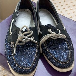 Sparkly blue sperry topsiders